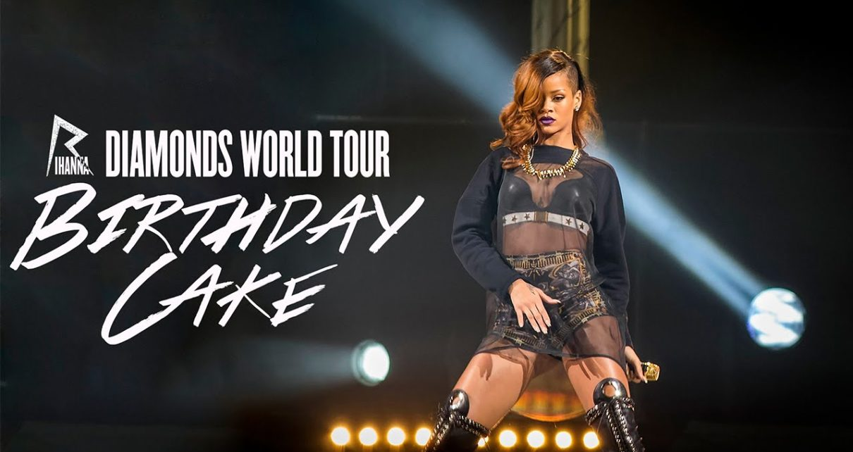 Pleasant Rihanna Birthday Cake Live At The Diamonds World Tour Rihanna Funny Birthday Cards Online Fluifree Goldxyz